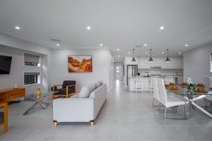 Real estate photographer open plan living room